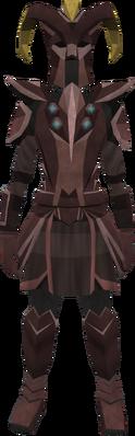 Promethium plate armour set (lg) (female) equipped