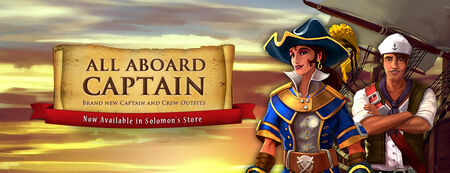 Captain and Crew outfits banner