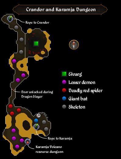 Crandor and Karamja Dungeon map