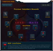 Previous Valentine's Rewards interface