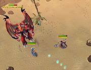 Demon flash mob fight