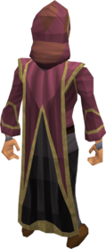 Wicked cape equipped