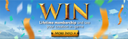 Win Lifetime Membership lobby banner