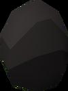 Black dragon egg detail