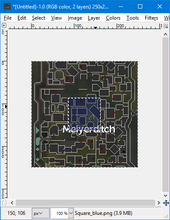 Basic maps - adding blue square