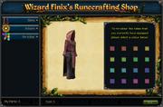 Wizard Finix's Runecrafting Shop (Recolour)