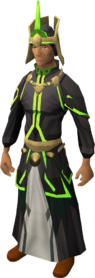 First tower robes equipped (green)