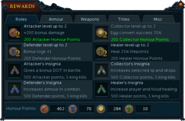 Barbarian Assault rewards interface (Roles)