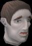 Frightened man chathead