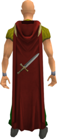 Hooded attack cape equipped