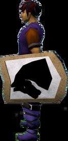 Rune kiteshield (Horse) equipped