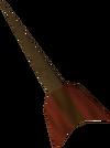 Bronze dart detail