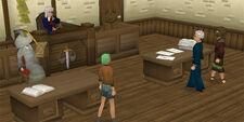 Een gaande sessie van court cases.