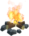 Logs fire