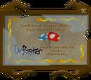 Nuff's certificate