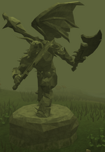Plain Zamorak statue