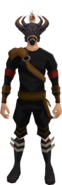 Helm of corruption (100 kills) equipped