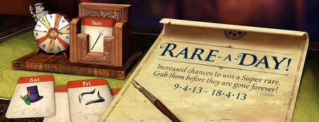 Super Rare A Day banner