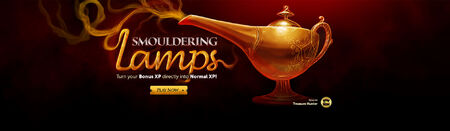 Smouldering lamps head banner
