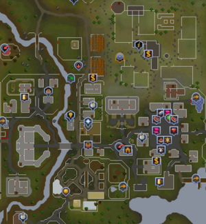 East Ardougne map