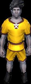 Gnomeballer's kit (orange) equipped