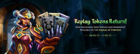 Replay Tokens Return banner