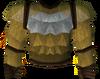 Werewolf torso (gold, male) detail