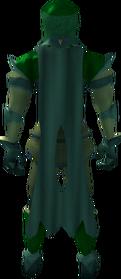 Lunar cape (green) equipped