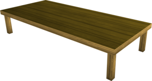 Wood dining table built