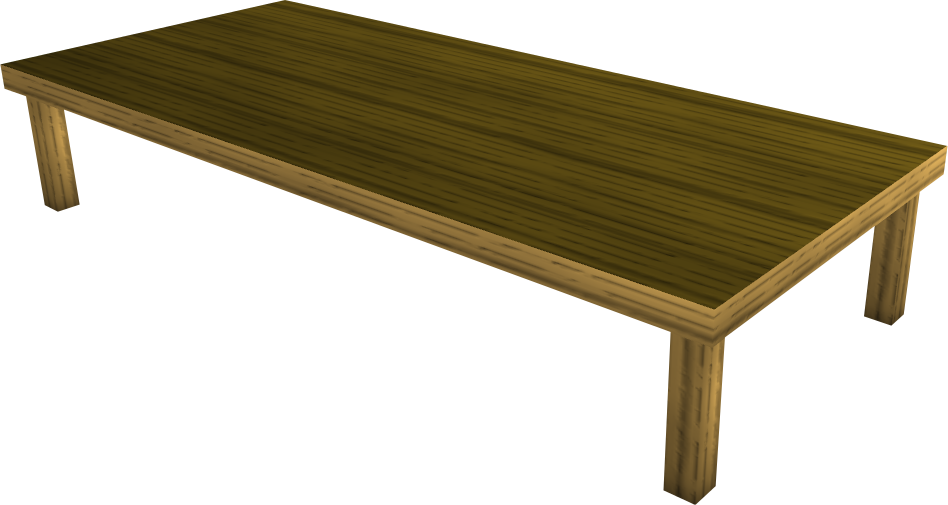 Image wood dining table runescape wiki for Runescape exp table 1 99