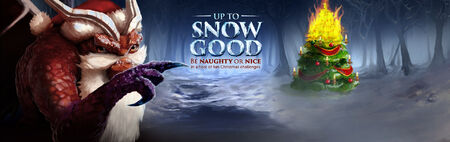 Up to Snow Good banner