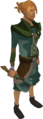 Adamant thrownaxe equipped.png