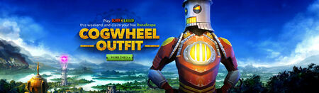 Cogwheel outfit head banner