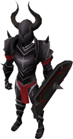 Black armour set (lg) equipped