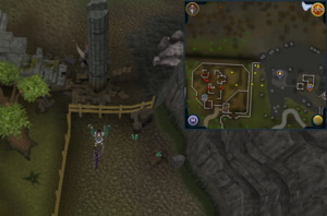 Compass clue Varrock north-west rag bone man