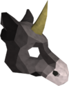 Black unicorn mask detail