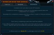 RuneScape Road Trip journal (2015) information