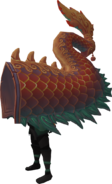 Red zodiac costume (tail) equipped