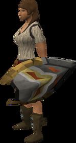 Anti-dragon shield (Daemonheim) equipped