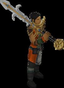 Saradomin godsword equipped