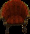 Padded armchair