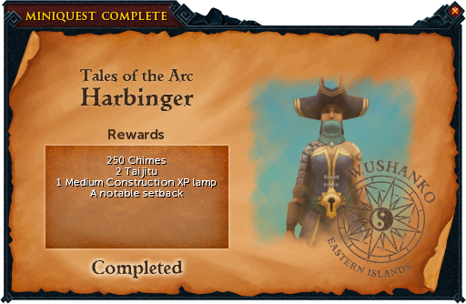 Harbinger reward
