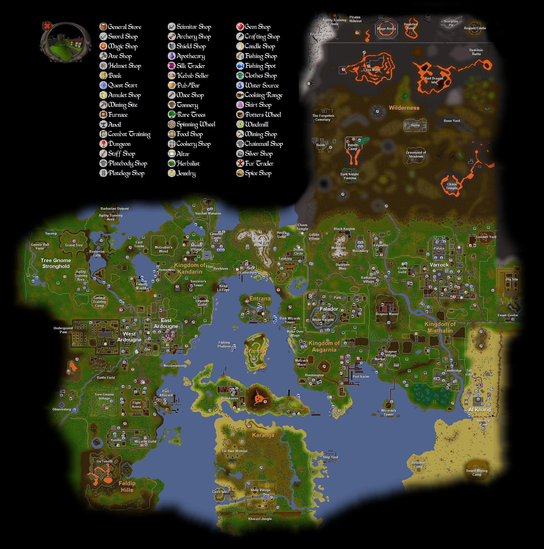 Map Of Runescape | World Map 07