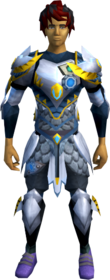 Augmented Armadyl armour set equipped