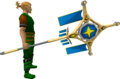 Banner of Saradomin (tier 4) equipped.png