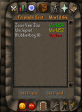 Friends List interface old2