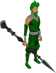 Primal spear equipped