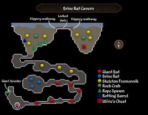 Brine Rat Cavern map