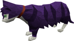 Lazy cat (purple) pet