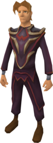 Zamorakian ceremonial robe outfit equipped